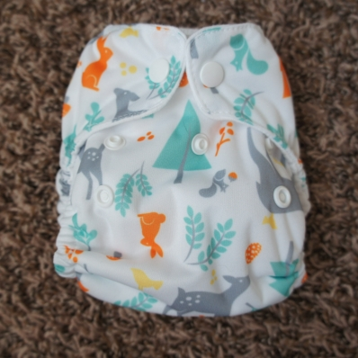 Thirsties Natural Newborn All in One Woodland