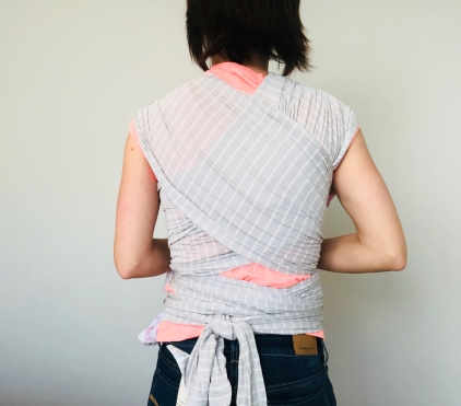 Ergobaby Grey Stripe Back View