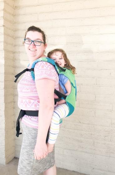 Toddler Trek Lime Back Carry