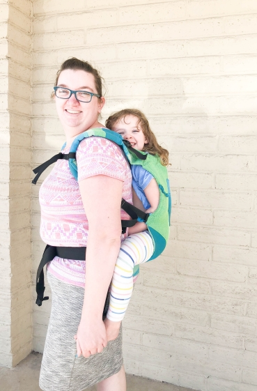 Toddler Trek Lime Back Carry